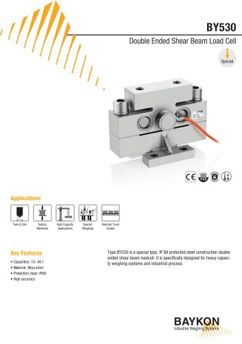 Baykon BY530 Double Ended Shear Beam Load Cell
