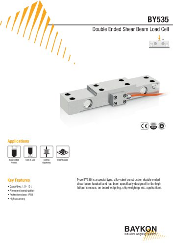 Baykon BY535 Double Ended Shear Beam Load Cell
