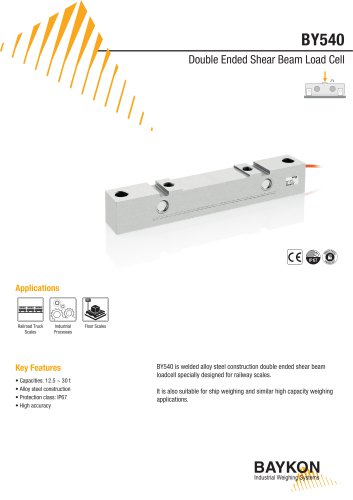 Baykon BY540 Double Ended Beam Load Cell
