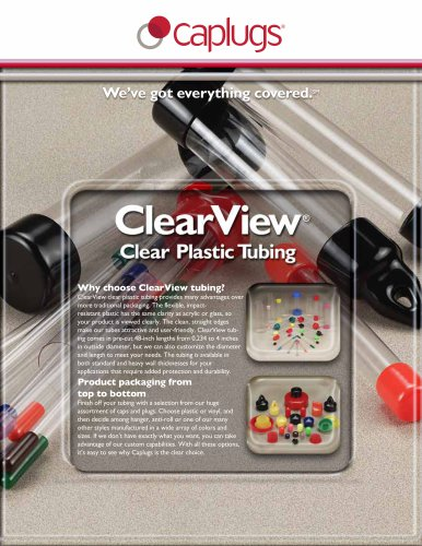 Clear Plastic Tubing Sell Sheet
