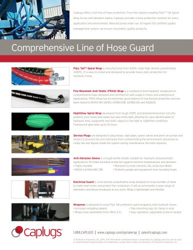 Comprehensive Line of Hose Guard