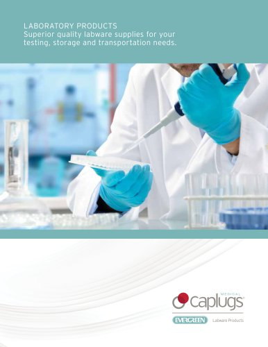 LABORATORY PRODUCTS Superior quality labware supplies for your testing, storage and transportation needs.