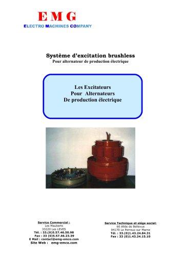 Système d' excitation brushless Pour alternateur de production électrique