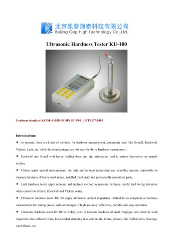 Ultrasonic Hardness Tester KU-100