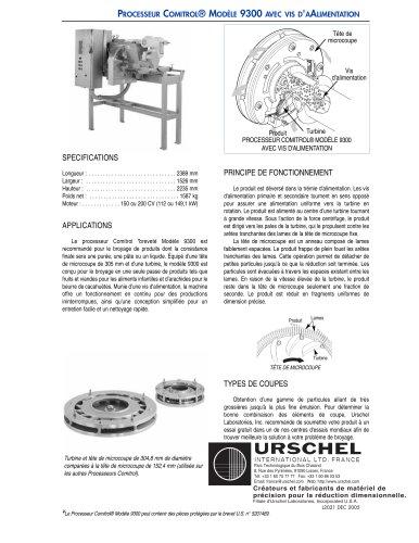 PROCESSEUR COMITROL® MODÈLE 9300 AVEC VIS D'AALIMENTATION