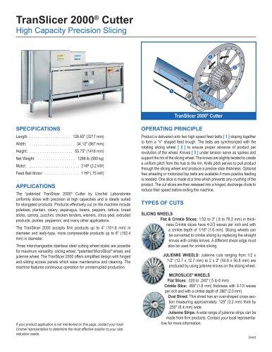 TranSlicer 2000® Cutter