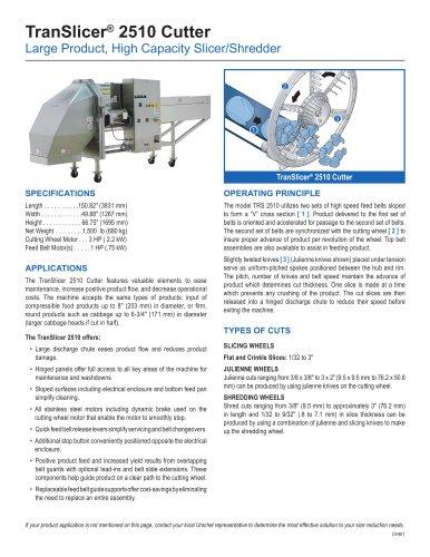 TranSlicer® 2510 Cutter
