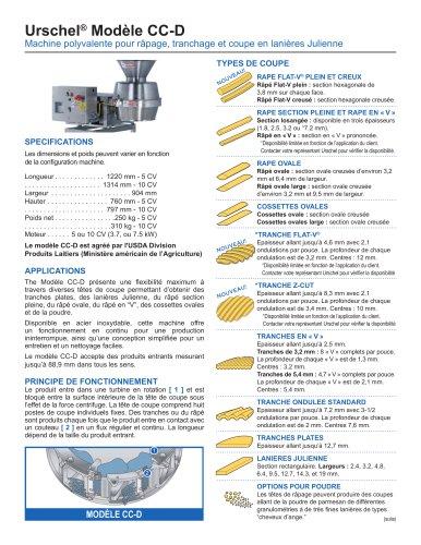 Urschel® Modèle CC-D