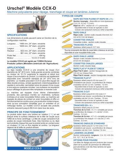 Urschel® Modèle CCX-D