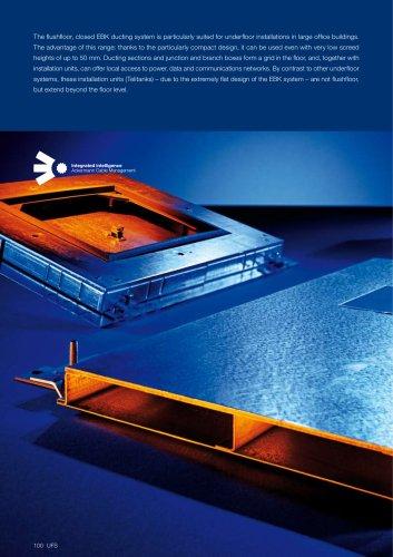 EBK - Flushfloor ducting systems, closed
