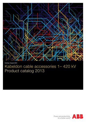 2013 ? Product catalog ? Kabeldon cable accessories 1?420 kV