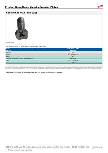KSS M6X16 V2A