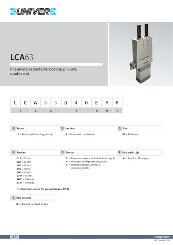 LCA63_Pneumatic retractable locating pin unit, double rod