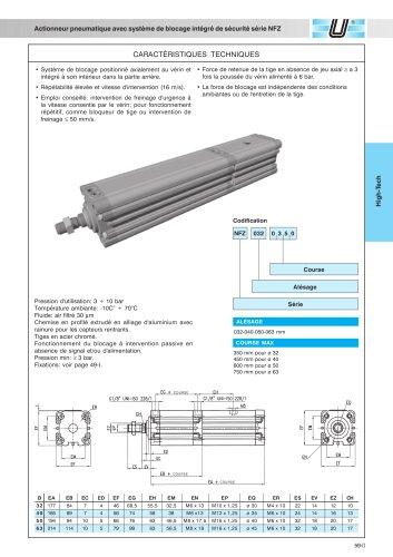 NFZ_Vérins pneumatiques avec système de blocage de sécurité intégré