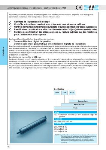 NQZ_Vérins pneumatiques avec détecteur de position intégré
