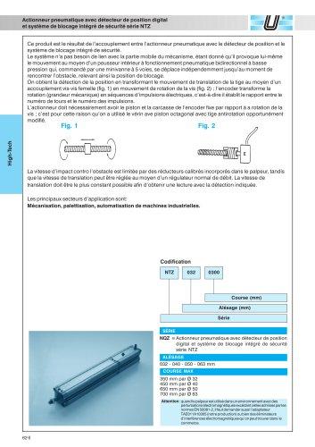 NTZ_Vérins pneumatiques avec détecteur de position et système de blocage intégrés
