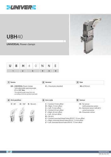 UBH40_UNIVERSAL Power clamps