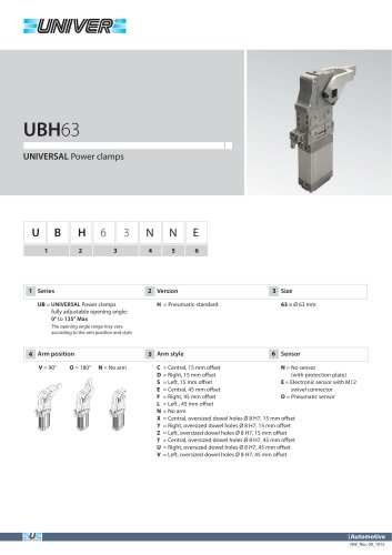 UBH63_UNIVERSAL Power clamps