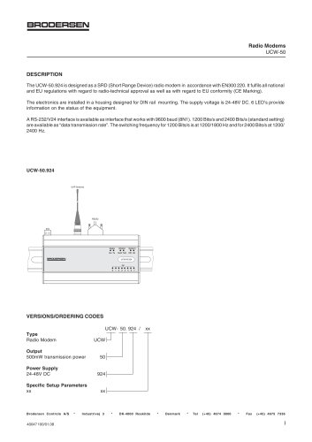 Data Radios Data Sheet