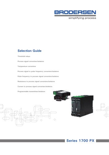 PX Signal Converters Selection Guide