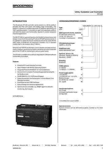 RTU32 Data sheet