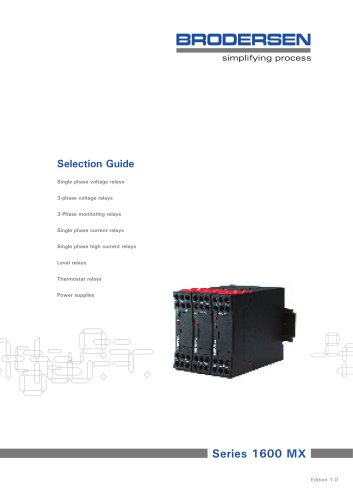 Selection Guide MC Control Relays