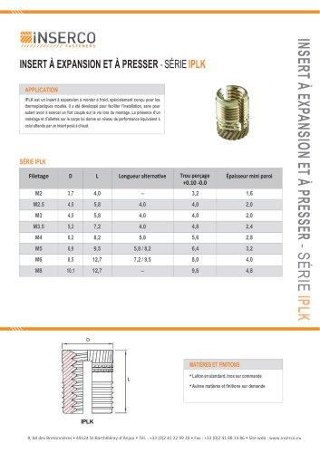 Inserts spéciaux pour plastiques durs IN41 – IN42 – IN42R