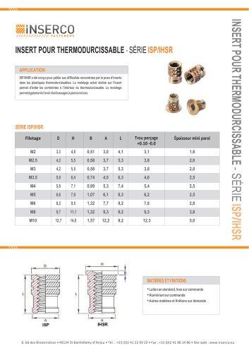 ISP/IHSP Inserts spéciaux pour thermodurs