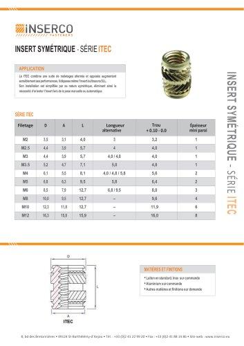 ITEC Inserts symétriques