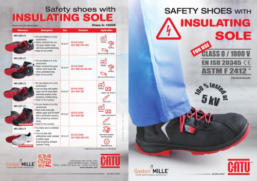 NEW RANGE OF SAFETY SHOES WITH INSULATING SOLE