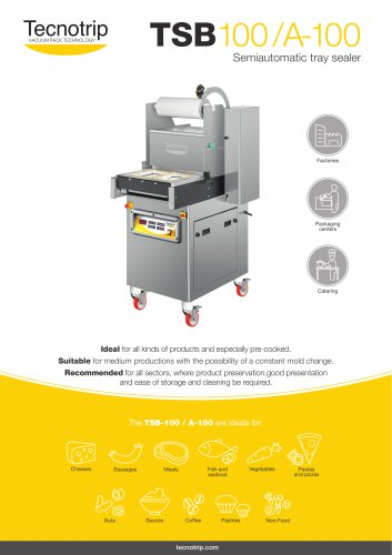 SEMIAUTOMATIC TRAY SEALER