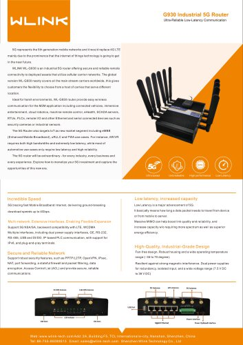 WLINK G930 M2M 5G Router