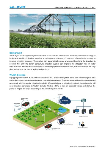 Wlink M2M Router used in Smart Irrigation solution