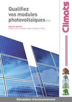 Chambre d'essais climatique pour panneaux solaires