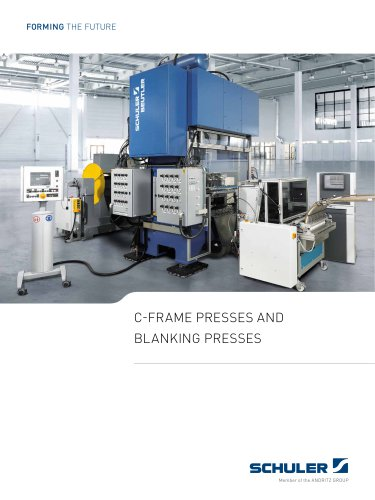 C-frame presses and blanking presses
