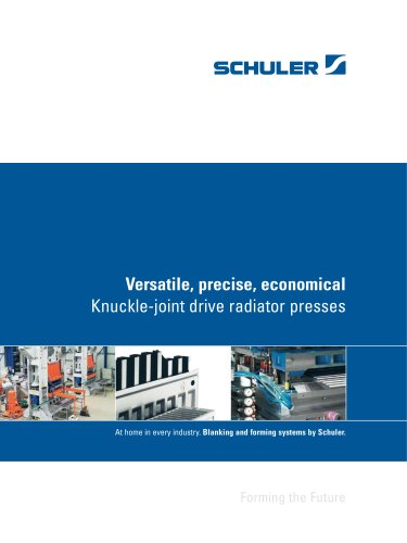 Knuckle-joint drive radiator presses