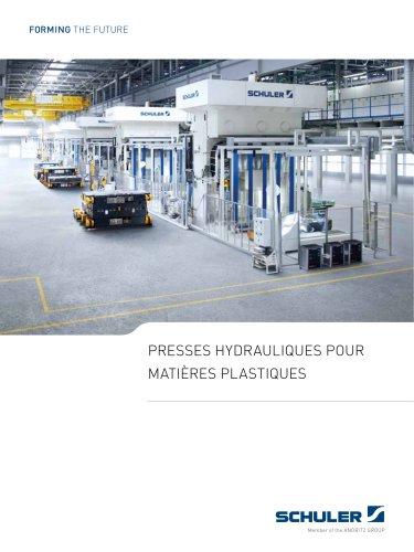 Presses hydrauliques pour matières plastiques