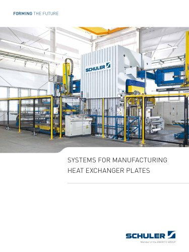 SYSTEMS FOR MANUFACTURING HEAT EXCHANGER PLATES