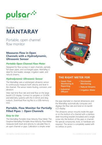 MantaRay Portable Area-Velocity Flow Meter