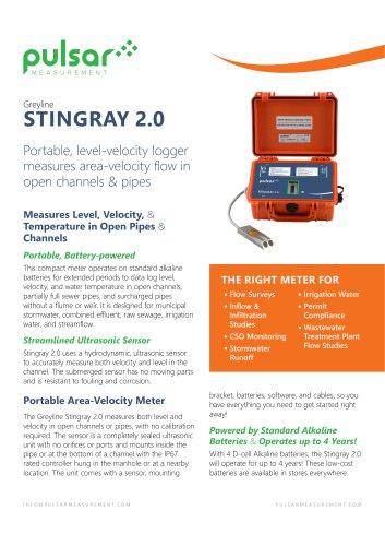 Stingray 2.0 Portable Level-Velocity Logger