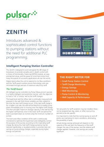 Zenith Pump Controller Sales Brochure