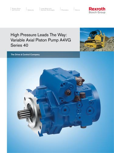 High Pressure Leads The Way: Variable Axial Piston Pump A4VG Series 40