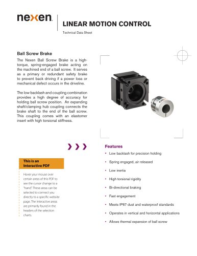 LINEAR MOTION CONTROL