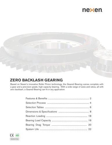 Zero Backlash Gear Catalog