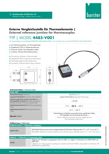 External reference junction for thermocouples
