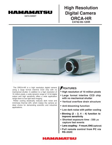 Digital CCD Camera  ORCA-HR