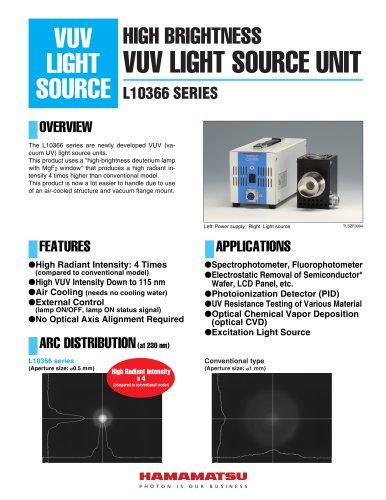 HIGH BRIGHTNESS VUV LIGHT SOURCE UNIT L10366 SERIES
