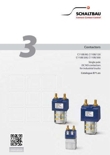 C110B – 1 pole DC NO contactors for industrial trucks