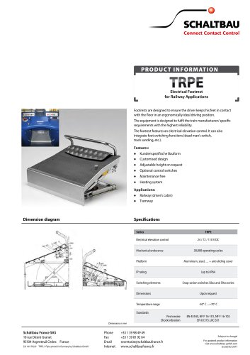 Electric footrest, TRPE series