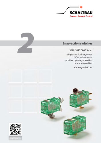 Snap-action switches S840, S845, S846